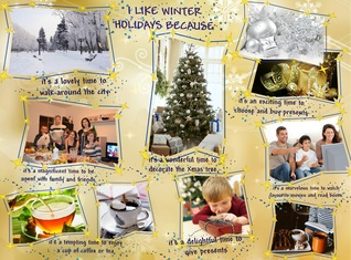 I like Winter Holidays Because....