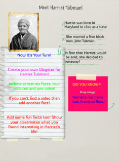 Harriet Tubman Assignment!