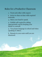 Revised Classroom Rules's thumbnail
