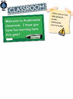 welcome to acebrownie class