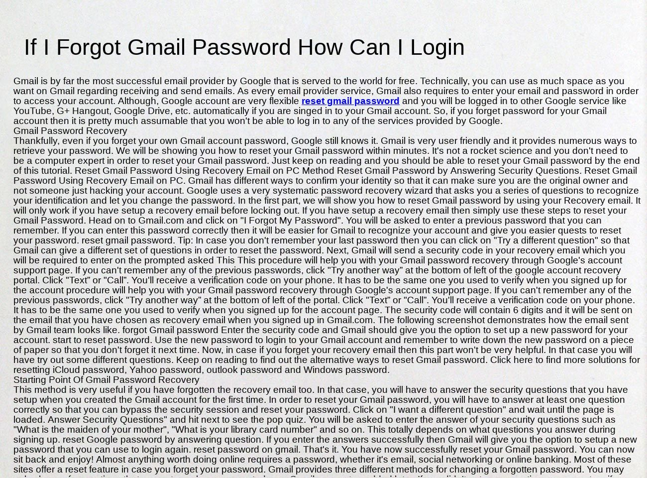 Reset Gmail PAssword: text, images, music, video | Glogster