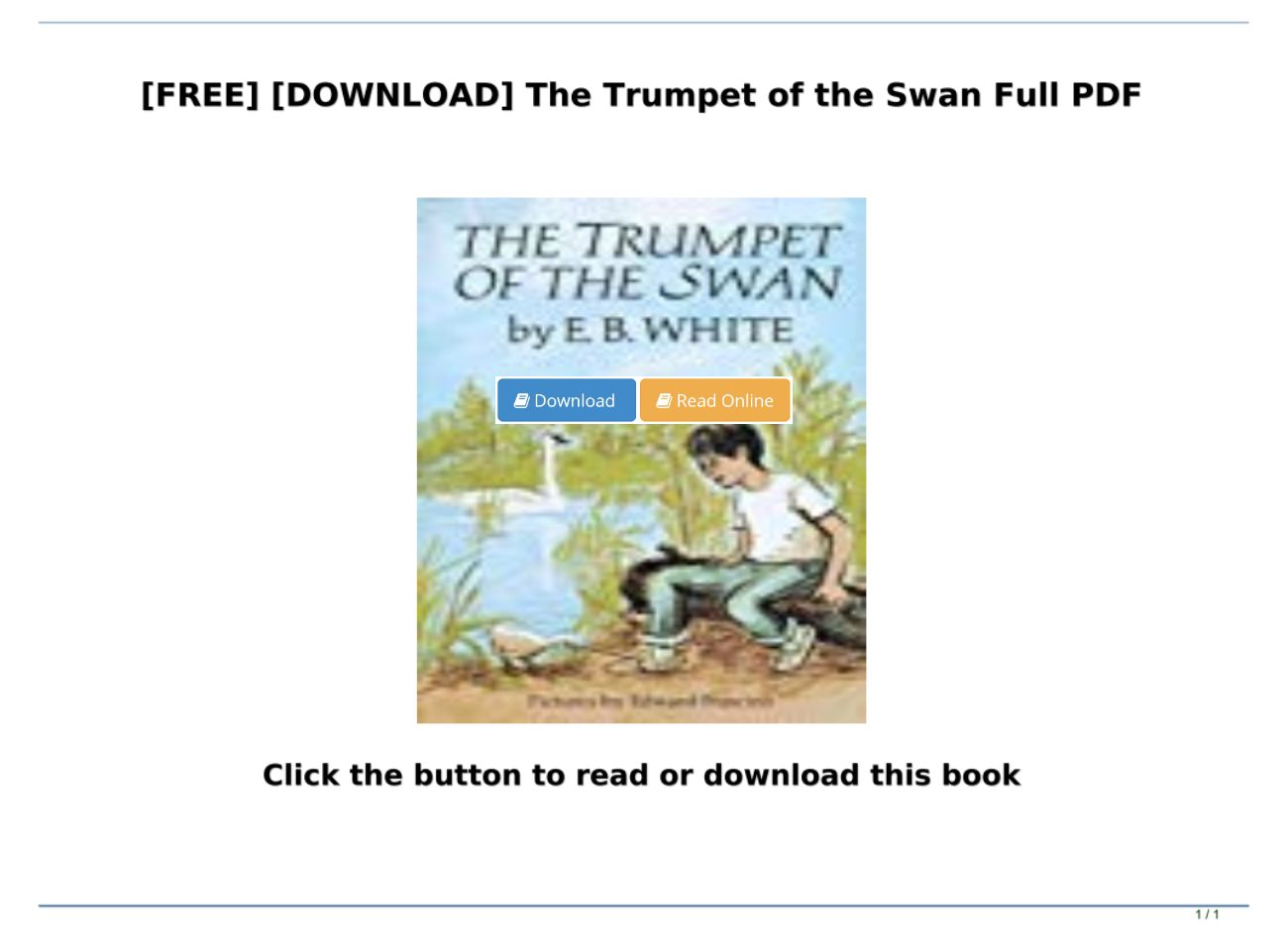 the trumpet of the swan free download