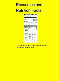 resources and nutrition facts