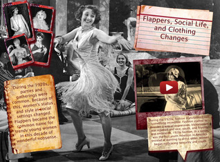 Flappers, Social Life and Clothing Changes