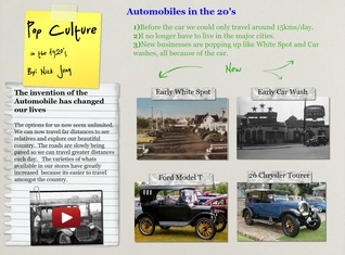 Automobiles in the 20's
