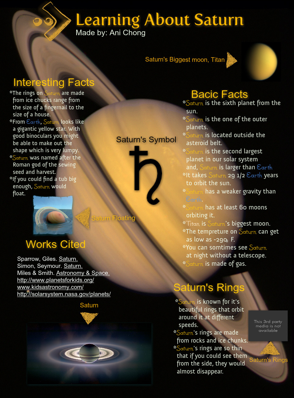 Learning About Saturn