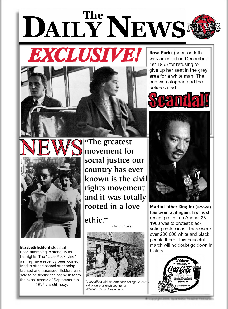 The Daily News- Civil Rights Movement