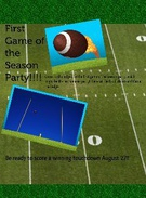 First game of the season party's thumbnail