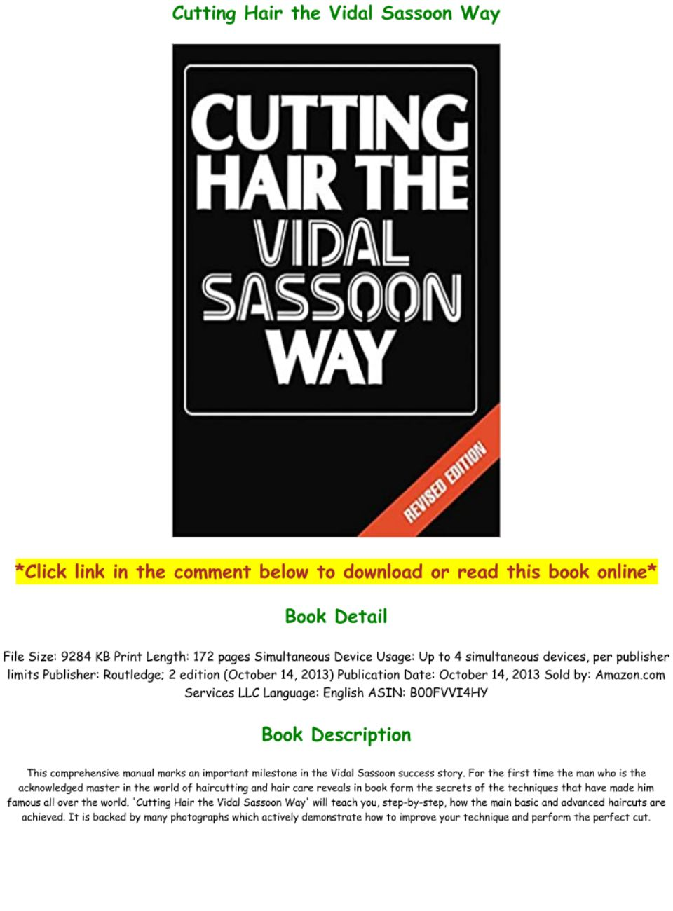 PDF] D.O.W.N.L.O.A.D Cutting Hair the Vidal Sassoon Way Full-Acces