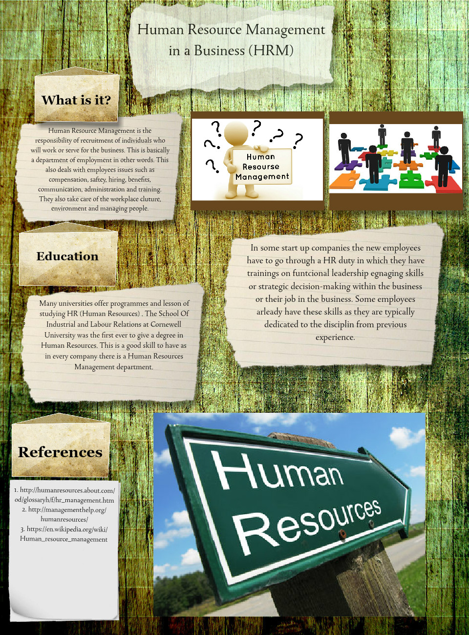 Human Resource Management in a Business
