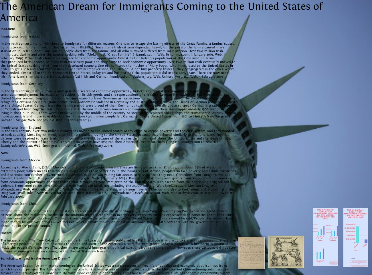 The American Dream for Immigrants Coming to the United States (A.P.R.)
