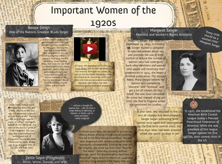 Important Women of the 1920's