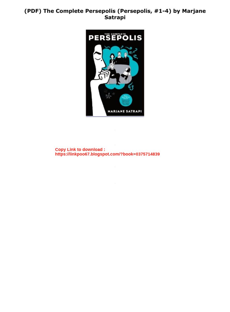 Pdf The Complete Persepolis Persepolis 1 4 By Marjane Satrapi Text Images Music Video Glogster Edu Interactive Multimedia Posters