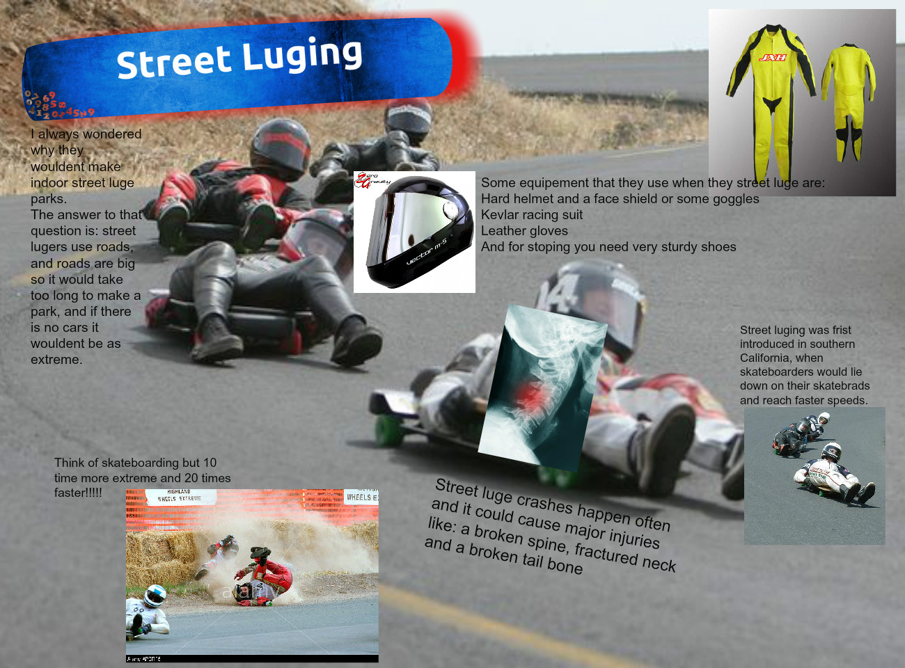 Luge Tag Template   Street Luge Experiment Experiment Template Glogster Edu